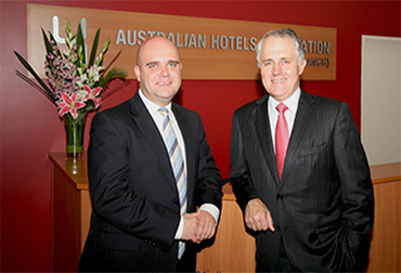 Bradley Woods and Malcolm Turnbull