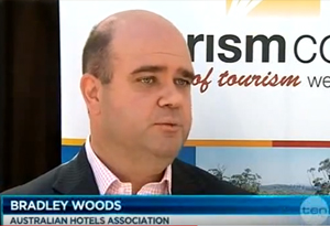 Bradley Woods on Channel Ten News