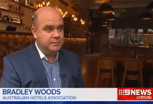 Bradley Woods on Channel Nine News