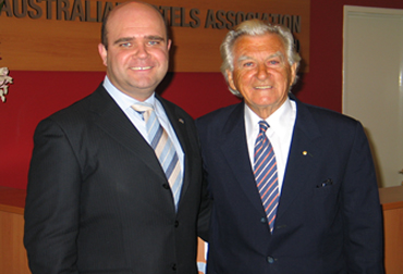Bradley Woods and Bob Hawke