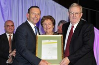 2012 Hospitality Industry Achievement Award - Tony Abbott with Eric and Anne Ferrari