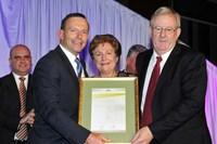 2012 Hospitality Industry Achievement Award - Tony Abbott with Eric and Anne Ferrari