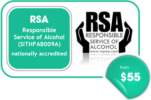 RSA - Responsible Service of Alcohol from $55