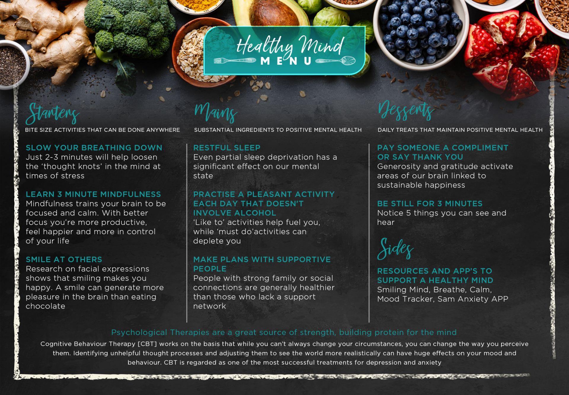 a4 menu