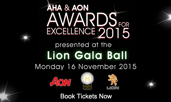 AHA & Aon Awards for Excellence presented at the Lion Gala Ball