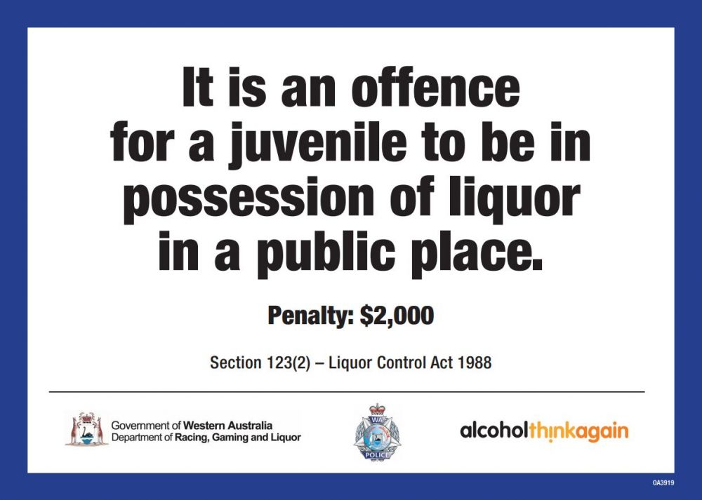 It is an offence for a juvenile to be in possession of liquor in a public place