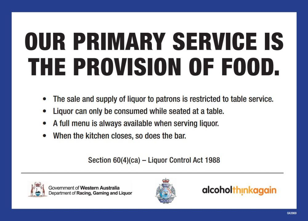 Our primary service is the provision of food