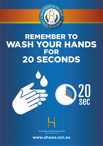 Venue Poster - Wash your hands for 20 seconds